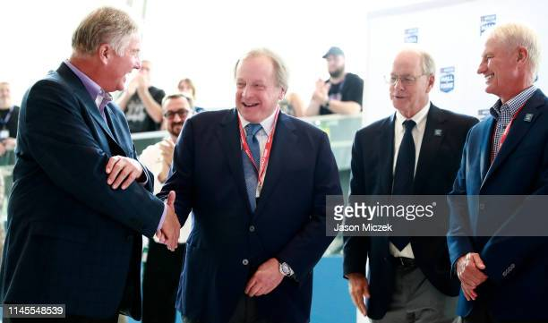 2019 Edsel Ford II reacts to receiving the Landmark Award for Outstanding Contributions to NASCAR during the NASCAR 2020 Hall of Fame announcement...