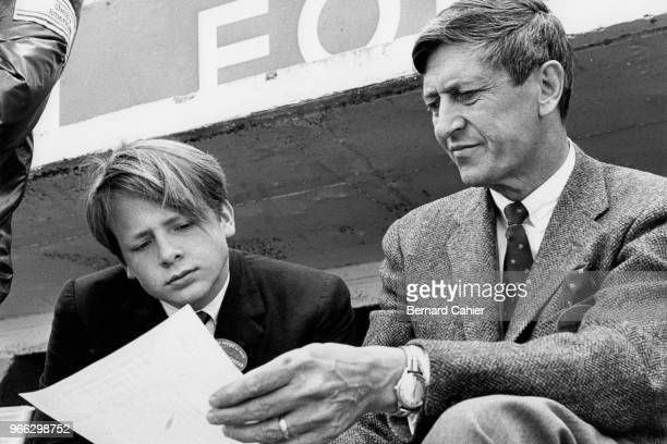 Edsel Ford, Leo Beebe, 24 Hours of Le Mans, Le Mans, 19 June 1966. Ford's public-relations man in Le Mans, Leo Beebe, with a young Edsel Ford.