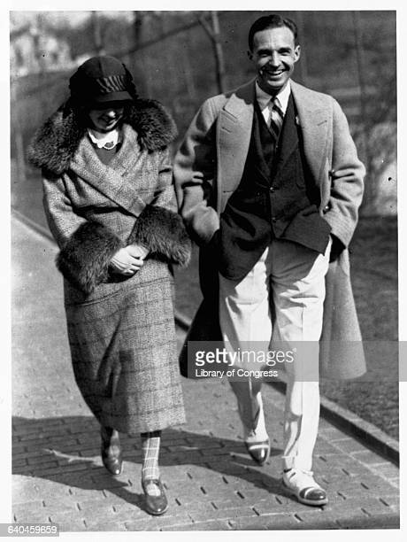 Edsel Ford, son of Ford Motor Company founder Henry Ford, walks with his wife Eleanor during his tenure as the company's president. Edsel was Ford...