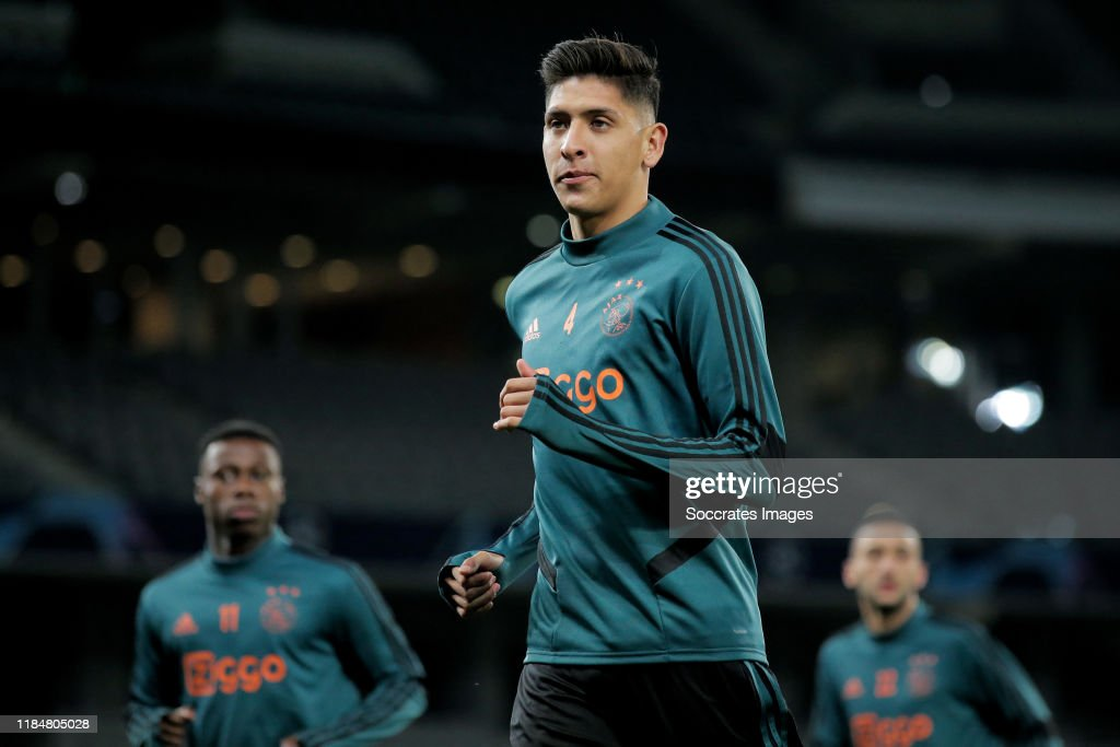 Ajax Training and Press Conference : News Photo