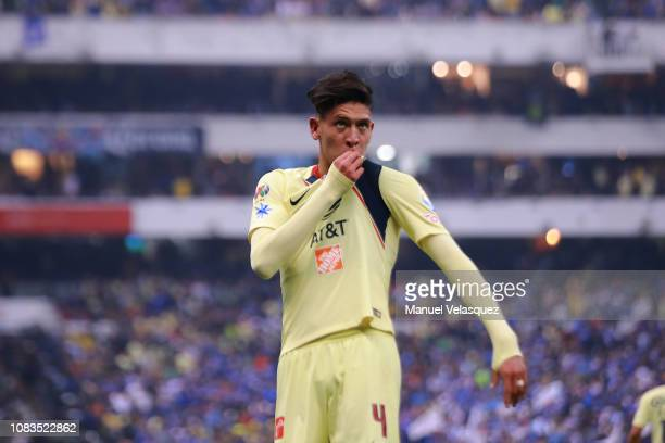 6dc820218 Edson Alvarez of America celebrates after scoring the first goal of his  team during the final