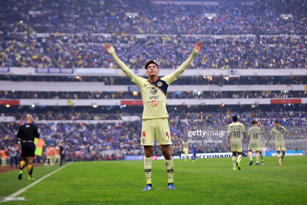 d33d0db1b Edson Alvarez of America celebrates after scoring the first goal of ...