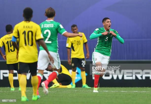 Edson Alvarez of Mexico celebrates after scoring the winning goal in the FIFA U20 World Cup Korea Republic 2017 group B match between of Vanuatu and...