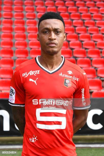 Edson Andre Sitoe Mexer during photoshooting of Stade Rennais for new season 2017/2018 on September 19 2017 in Rennes France