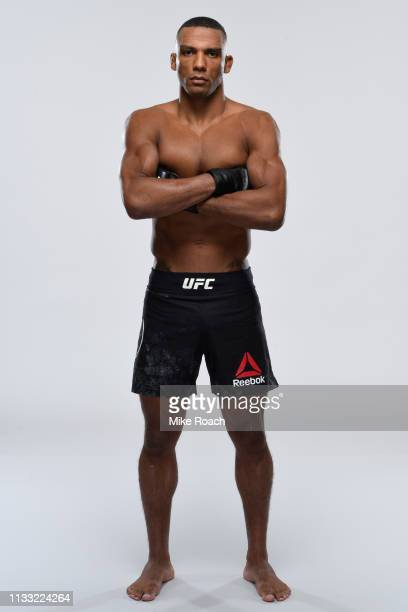 Edson Barboza of Brazil poses for a portrait during a UFC photo session on March 27 2019 in Philadelphia Pennsylvania