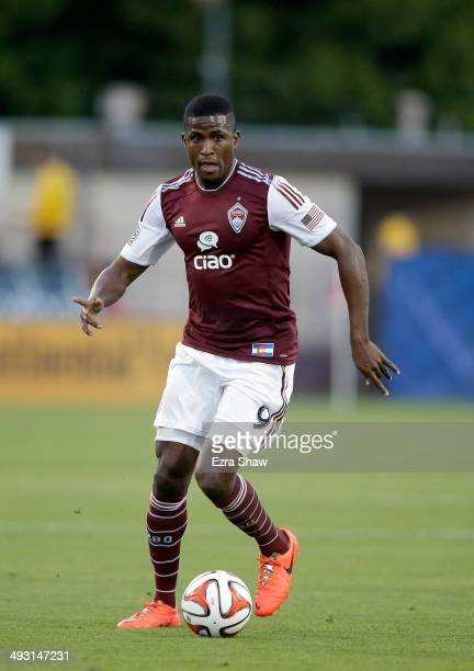 Edson Buddle of Colorado Rapids in action against the San Jose Earthquakes at Buck Shaw Stadium on May 7 2014 in Santa Clara California