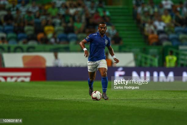 Edson Farias of CD Feirense during the Liga NOS match between Sporting CP and CD Feirense at Estadio Jose Alvalade on September 1 2018 in Lisbon...