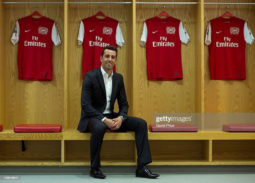 Former Arsenal player Edu Visits Emirates Stadium : News Photo