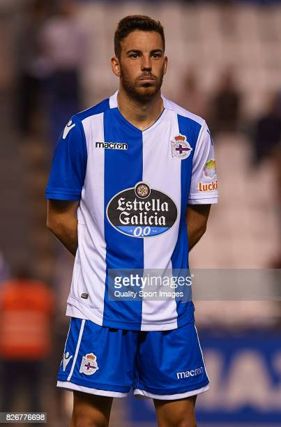 Edu Exposito of Deportivo de La Coruna looks on after the Pre Season Friendly match between Deportivo de La Corua and West Bromwich Albion at Riazor...
