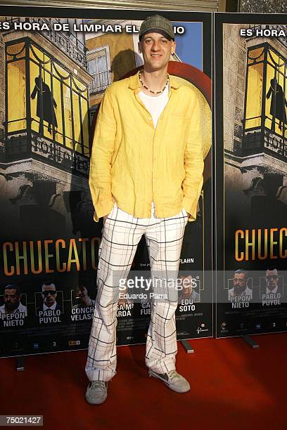 Edu Soto attends the 'Chuecatown' premiere at the Callao Cinema in Madrid Spain on July 3 2007