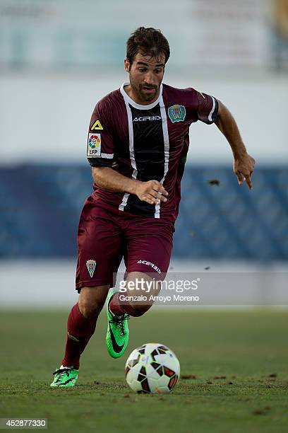 Eduard Campabadal of Cordoba CF controls the ball during the friendly football match between Marbella FC and Cordoba CF at Municipal Stadium on July...