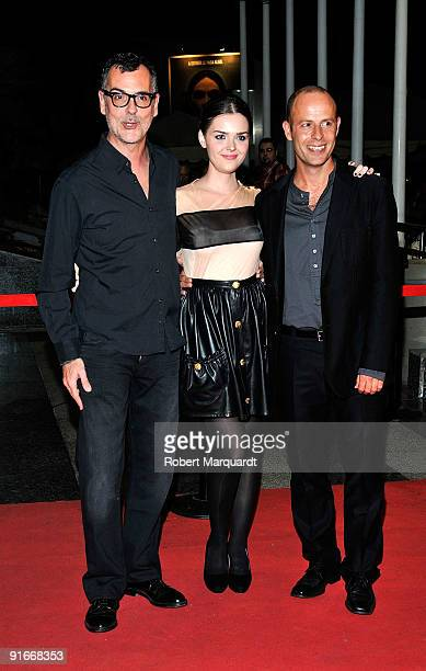 Eduard Cortes Elena Serrano and Eduard Farelo attend the premiere of 'Ingrid' at the 42nd Sitges Film Festival on October 9 2009 in Barcelona Spain