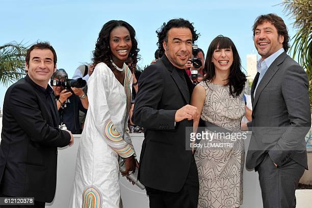 Eduard Fernandez Diaryatou Daff Alejandro Gonzalez Inarritu Maricel Alvarez and Javier Bardem at the photo call for Biutiful during the 63rd Cannes...