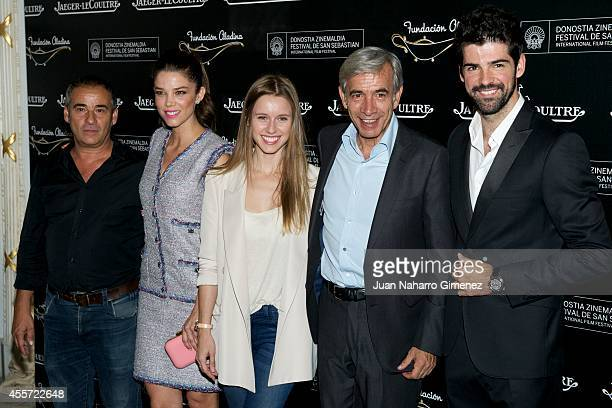 Eduard Fernandez Juana Acosta Manuela Velles Imanol Arias and Miguel Angel Munoz attend Aladina JaegerLeCoultre 'Time To Smile' presentation at Maria...