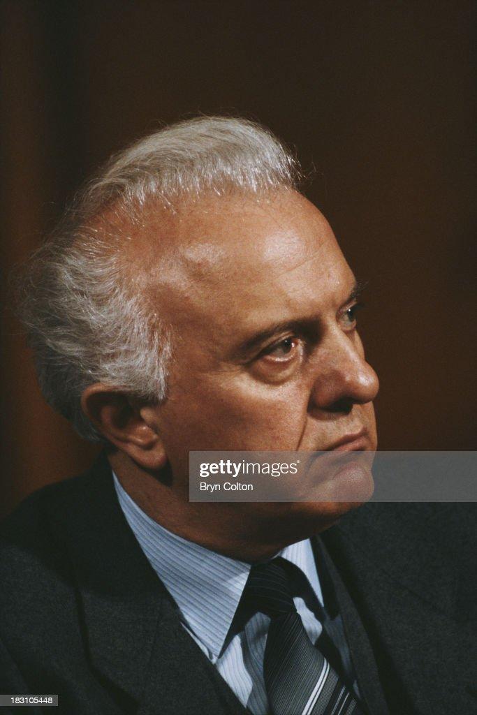 Eduard Shevardnadze, the 2nd President of Georgia, circa 1995.