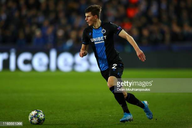 Eduard Sobol of Club Brugge KV during the UEFA Champions League group A match between Club Brugge KV and Real Madrid at Jan Breydel Stadium on...