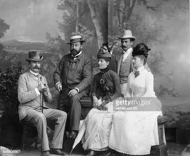 Eduard VII *09111841 Koenig von GB und Irland 19011910 als Prinz of Wales mit seiner Homburger Freundin der Amerikanerin Miss Cunard undatiert