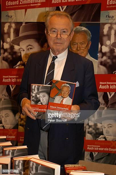 """Eduard Zimmermann, Buchvorstellung von seinem Buch """"Auch ich war ein Gauner"""", Riva-Verlag, Leukerbad, Schweiz, Europa, Ex-TV-Moderator,..."""