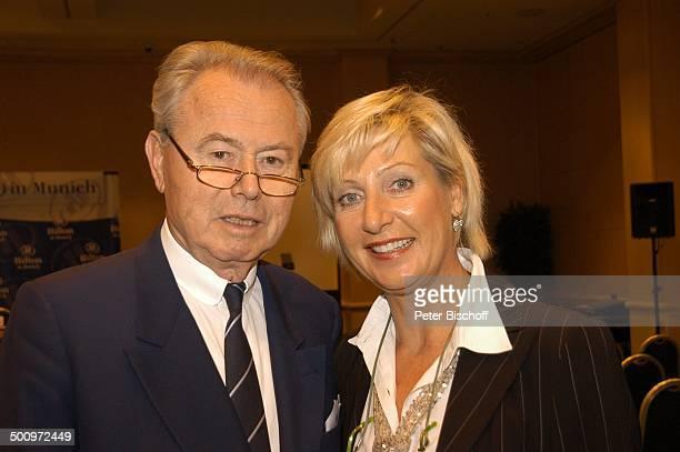 Eduard Zimmermann, Tochter Sabine Zimmermann, Leukerbad, Schweiz, Europa, Ex-TV-Moderator, TV-Moderatorin, Vater, Familie, Brille, Promi MZ, CD;...