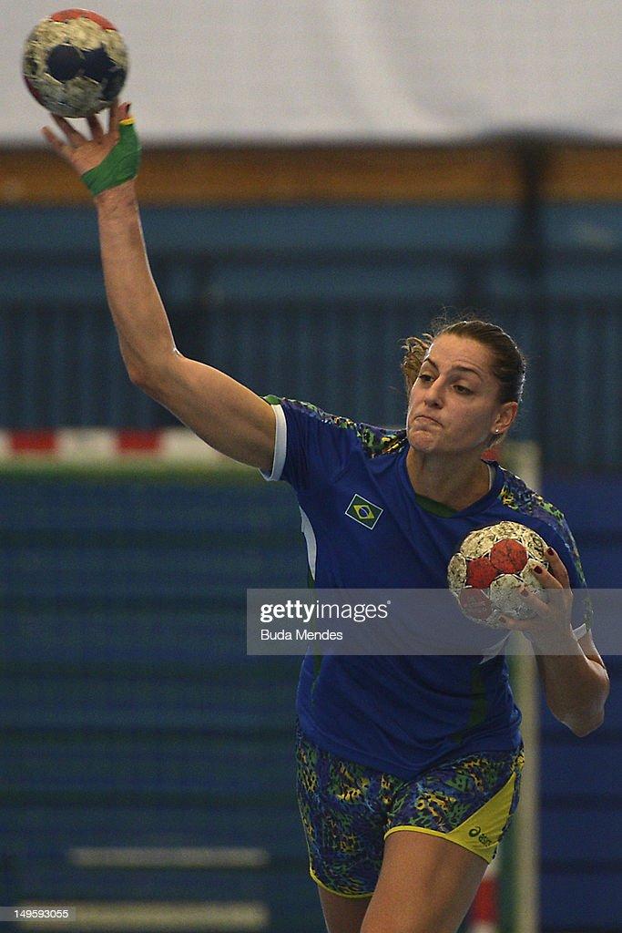 Brazilian Olympic Handball Team Training Session