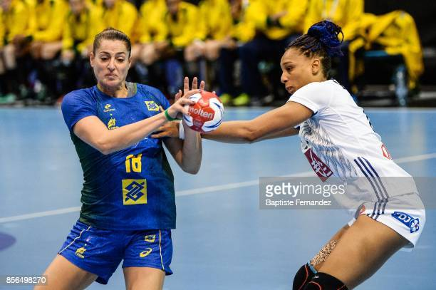 Eduarda Amorim of Brazil during the handball women's international friendly match between France and Brazil on October 1 2017 in TremblayenFrance...