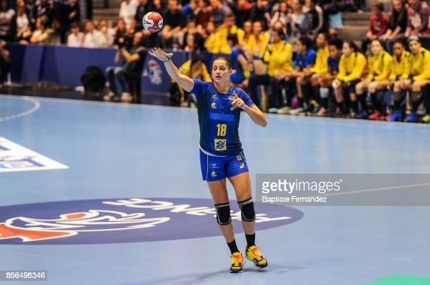 Eduarda Amorim of France during the handball women's international friendly match between France and Brazil on October 1 2017 in TremblayenFrance...