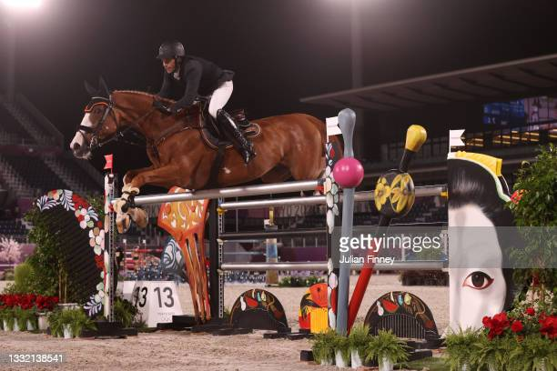 Eduardo Alvarez Aznar of Team Spain riding Legend competes during the Jumping Individual Qualifier on day eleven of the Tokyo 2020 Olympic Games at...