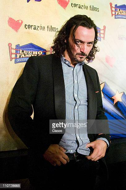 Eduardo Arroyuelo attends to the presentation of the tv serie Lucho en Familia at the Camino Real Hotel on March 23 2011 in Tlalnepantla Mexico