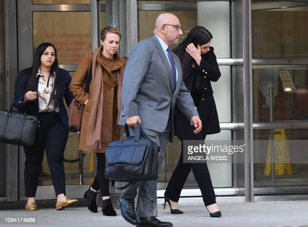 Eduardo Balarezo , attorney for Joaquin 'El Chapo' Guzman and Emma Coronel Aispuro , wife of Guzman exit the US Federal Courthouse on February 5,...