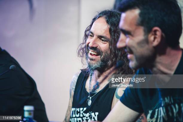 Eduardo Beaumont aka Piñas and David Diaz aka Kolibri attend the press conference to present Marea's new album 'El Azogue' and their new tour on...