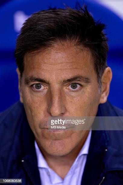 Eduardo Berizzo head coach of Athletic Club de Bilbao looks on prior to the La Liga match between Levante UD and Athletic Bilbao at Ciutat de...