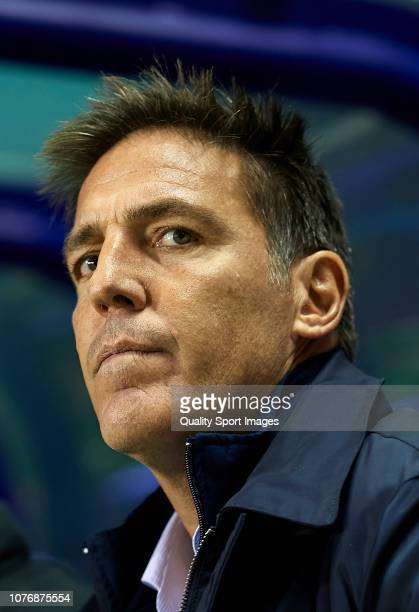 Eduardo Berizzo Manager of Athletic Club looks on prior to the La Liga match between Levante UD and Athletic Club at Ciutat de Valencia on December...
