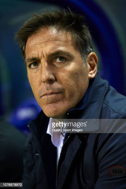 Eduardo Berizzo, Manager of Athletic Club looks on prior to the La Liga match between Levante UD and Athletic Club at Ciutat de Valencia on December...