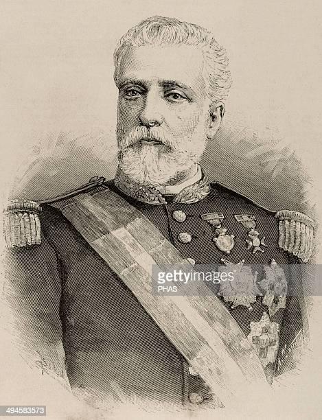 Eduardo Bermudez Reina . Spanish military and politician. Engraving of The Spanish and American Illustration, 1890.