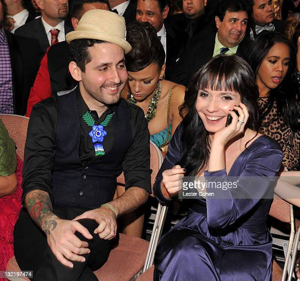 Eduardo Cabra Martinez from Calle 13 seated with a guest at the 12th Annual Latin GRAMMY Awards held at the Mandalay Bay Events Center on November 10...