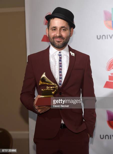 Eduardo Cabra poses in the press room during The 18th Annual Latin Grammy Awards at MGM Grand Garden Arena on November 16 2017 in Las Vegas Nevada