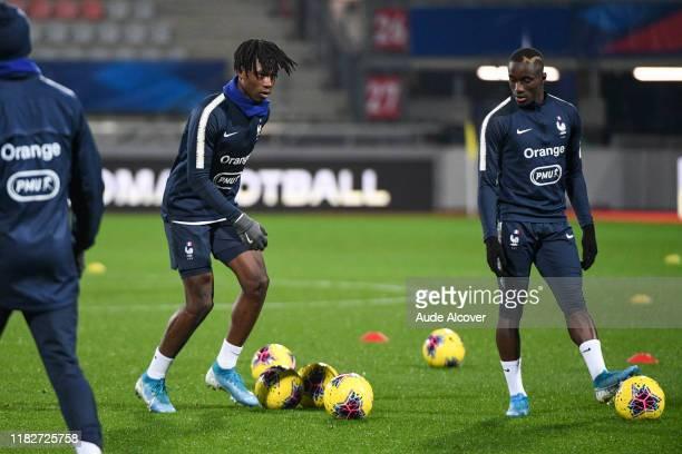 Eduardo CAMAVINGA and Moussa DIABY of France during the UEFA European Championship Group B match between France U21 and Georgia U21 on November 15...