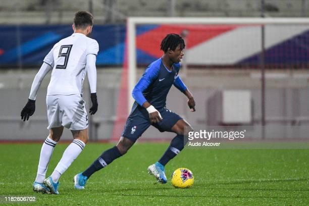 Eduardo CAMAVINGA of France during the UEFA European Championship Group B match between France U21 and Georgia U21 on November 15 2019 in Nancy France