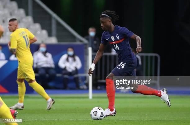 Eduardo Camavinga of France in action during the international friendly match between France and Ukraine at Stade de France on October 7, 2020 in...