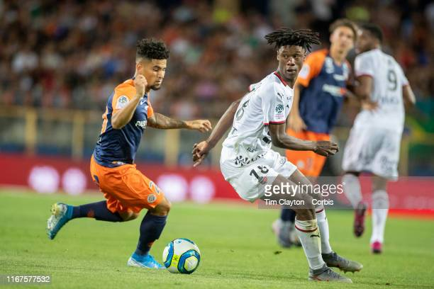 Eduardo Camavinga of Rennes defended by Keagan Dolly of Montpellier during the Montpellier Vs Stade Rennes French Ligue 1 regular season match at...