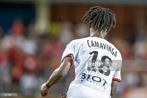 August 10: Eduardo Camavinga of Rennes during the Montpellier Vs Stade Rennes, French Ligue 1 regular season match at Stade de la Mosson on August...