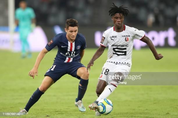 Eduardo Camavinga of Stade Rennais FC in action during the 2019 Trophee des Champions between Paris saintGermain and Stade Rennais FC at Shenzhen...