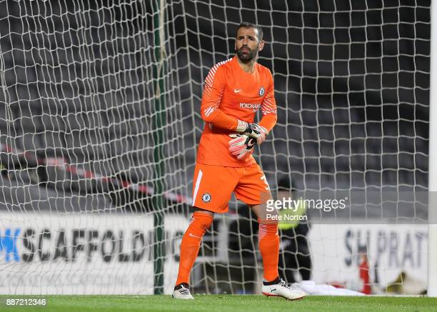 Eduardo Carvalho of Chelsea in action during the Checkatrade Trophy Second Round match between Milton Keynes Dons and Chelsea U21vat StadiumMK on...