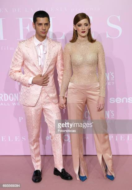 Eduardo Casanova and Ana Maria Polvorosa attend the 'Pieles' premiere pink carpet at Capitol cinema on June 7 2017 in Madrid Spain