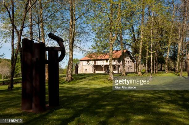 Eduardo Chillida's 'Forest V' sculpture is seen at Chillida Leku Museum on April 09 2019 in San Sebastian Spain Chillida Leku Museum reopens its...