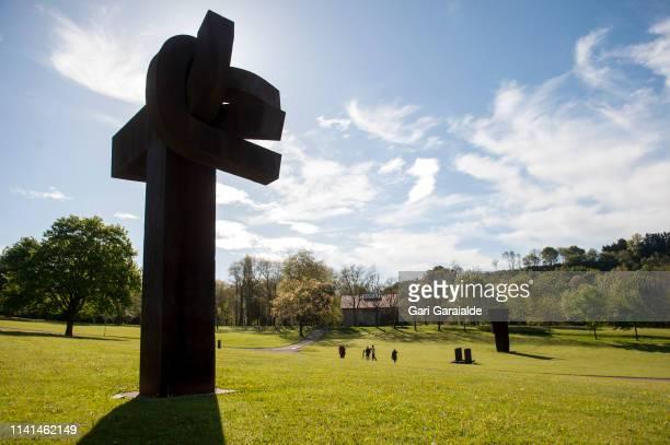 Eduardo Chillida's Knot XXXII sculpture is seen at Chillida Leku Museum on April 09 2019 in San Sebastian Spain Chillida Leku Museum reopens its...