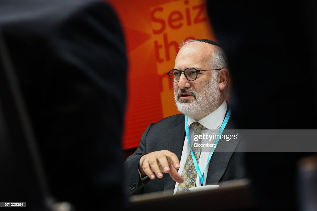 Eduardo Elsztain, founder and chief executive officer of Irsa Inversiones Y Representaciones SA, speaks during an interview in New York, U.S., on Friday, April 21, 2017. Irsa Inversiones y Representaciones SA, Argentina's largest publicly traded real estate company, has a portfolio consisting of commercial buildings, shopping centers, office space, residential properties, and hotels. Photographer: Christopher Goodney/Bloomberg via Getty Images