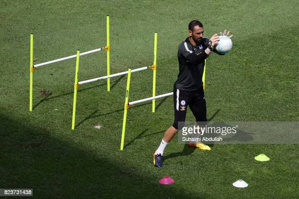 Eduardo in action during an International Champions Cup Chelsea FC training session at Singapore American School on July 28 2017 in Singapore