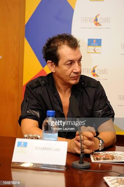 Eduardo Lao attends a press conference for 'El Arte de la Danza' at Teatro Cuyas on October 6 2010 in Las Palmas de Gran Canaria Spain