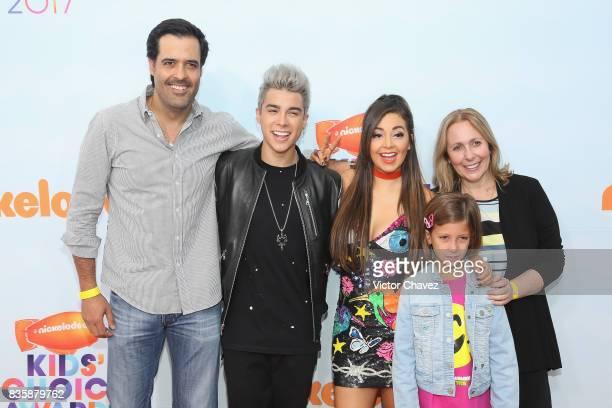 Eduardo Lebrija Mario Bautista Caeli and Tatiana Rodriguez attend the Nickelodeon Kids' Choice Awards Mexico 2017 at Auditorio Nacional on August 19...